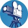 camera logo blauw